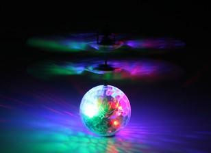 Fliegende blinkender LED-Kristalldisco-Kugel mit USB-Ladekabel