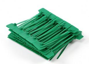 Kabelbinder 120mm x 3mm Grün mit Marker-Tag (100pcs)