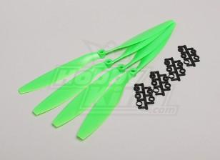 GWS Stil Slowfly Propeller 12x4.5 Green (CW) (4 Stück)