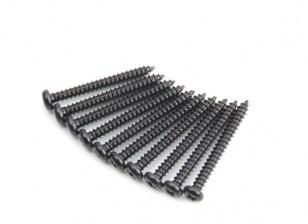 Metall-Rundkopf Selbst Tapping Sharp Schwanz Phillip Schraube M2.5x22-10pcs / set