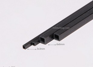 Carbon-Faser-Square Tube 750x6mm