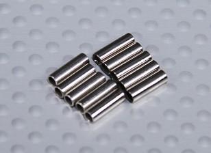 Beschichtetes Kupfer Crimpen Schlauch für Pull / Pull-Draht (10 Stück)