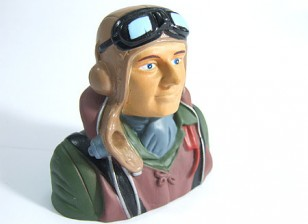 Modell WW2 Pilot 1/6 (H73 x W76 x D41mm)