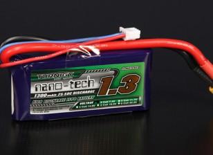 Turnigy Nano-Tech-1300mAh 2S 25 ~ 50C Lipo-Pack