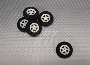 5-Speichen-Rad stoßabsorbierendes D60xH18mm (5pcs / bag)