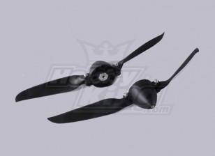 Faltpropeller W / Hub 45mm / 4.0mm Welle 10x8 (2 Stück)