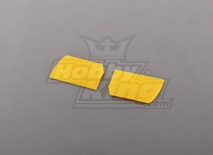 450 Größe Heli Flybar Paddle Gelb (Paar)