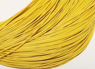 Turnigy Pure-Silikon-Draht 24AWG 1m (Gelb)