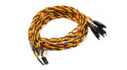 800mm Twisted Servo Lead Extension (JR) with Hook 22AWG (5pcs/bag)