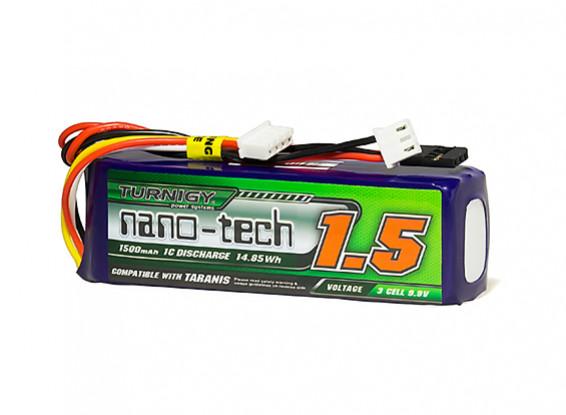 Turnigy nano-tech 1500mAh LiFe 3S 9.9V Transmitter Pack (Taranis Compatible)