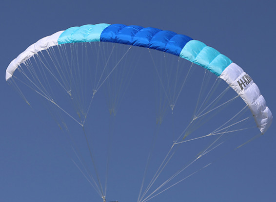2.4m Paraglider Sail (Blue/Turquoise/White) 1