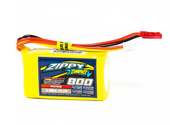 ZIPPY Compact 800mAh 3S1P 20C Lipo Pack (E-flight Compatible EFLB0995)