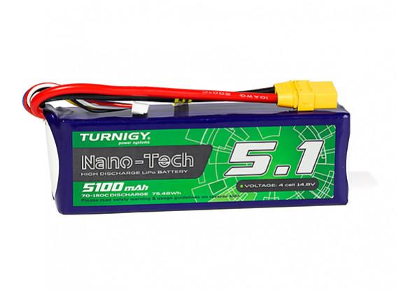Turnigy Nano-Tech Plus 5100mAh 4S 70C Lipo Pack w/XT90