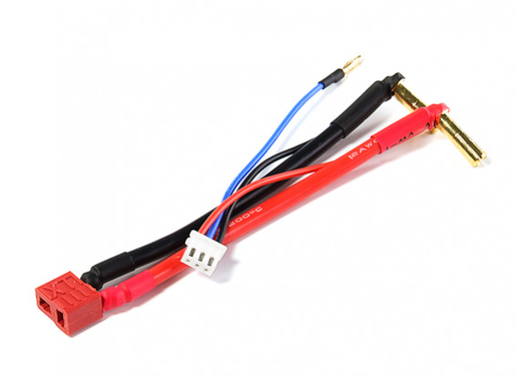 T Connector Female Harness w/Balance Lead for 2S Hardcase Lipo Battery