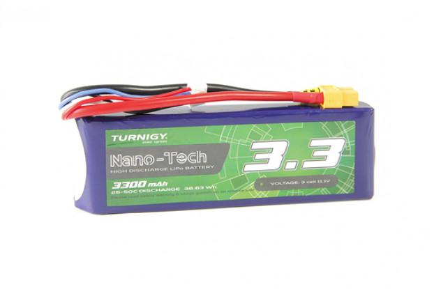 Turnigy Nano-Tech 3300mAh 3S 25C Lipo Pack w/XT60