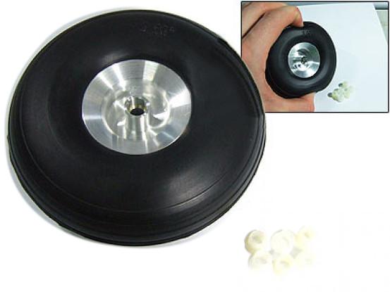 Escala ejes de aleación de rueda de goma de 3.0 pulgadas