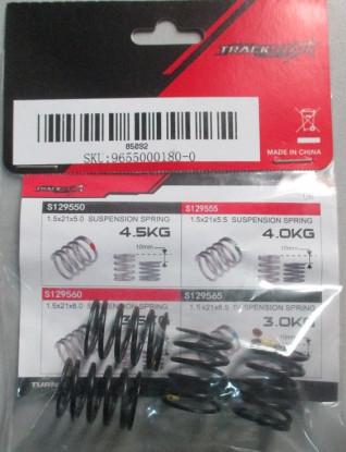 TrackStar suspensión de muelles Negro 21 x 14 3,5 kg (4) S129560