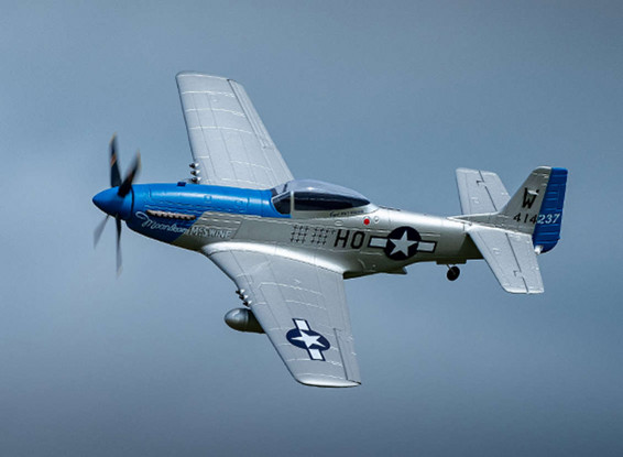 """H-King P-51D Moonbeam McSwine 750mm (30"""") w/6 Axis ORX Flight Stabilizer (PNF)Gyro 4"""