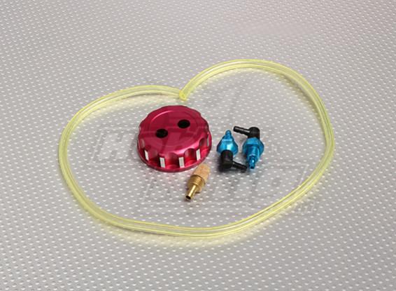 Aleación CNC Depósito de combustible / tapón de llenado con accesorios, tuberías y filtros