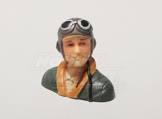 WW2 / clásico de la era Parkfly piloto (verde) (H38 x W42 x D22mm)