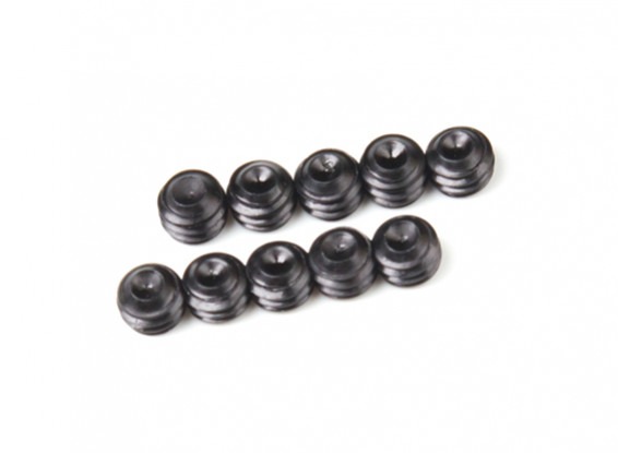 Screw Grub Hex M4 X 3mm Machine Steel Black (10pcs)