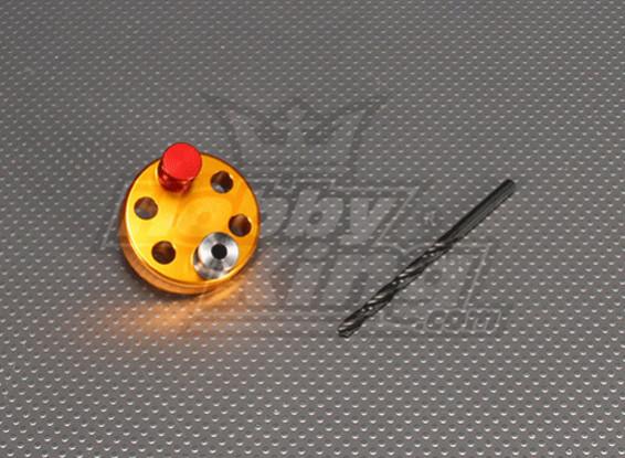 CNC de perforación plantilla Conjunto 6L (5,1 mm Taladro) Oro