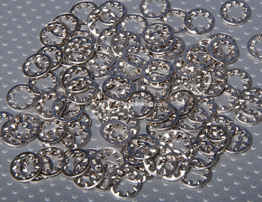 Arandela Estrella de 6 mm (100pc)