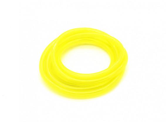 tubería de combustible de silicio (1 metro) Amarilla para Gas / Glow Motores 4.8x2.5mm