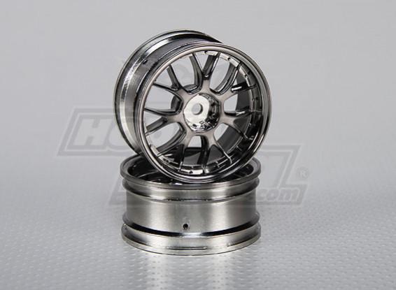 01:10 ruedas para fijar la escala (2 unidades) de Split y 7 rayos 26mm RC Car