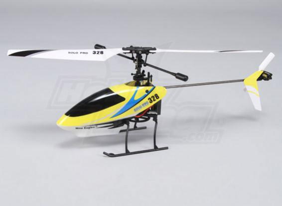 Solo Pro 328 de 4 canales helicóptero fijo Pitch - Amarillo (RTF)