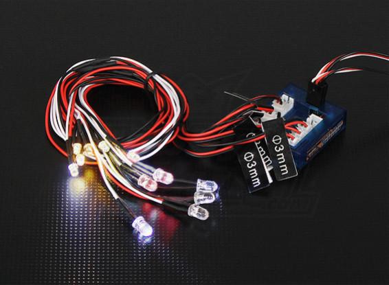 Sistema de luz LED HobbyKing Escala de coches