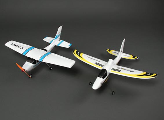 Avión HobbyKing® ™ Micro Classic Light y el ciclón Planeador Combo (PNF)