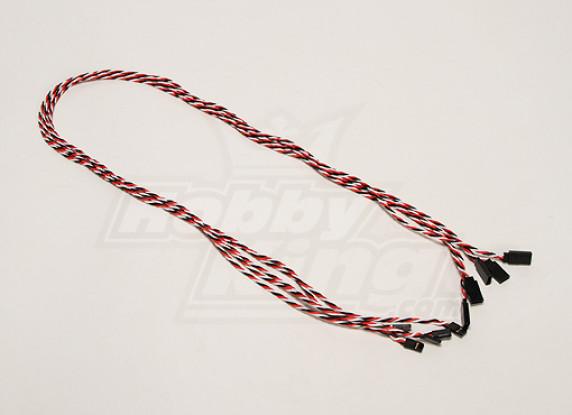 Twisted 80cm Servo Cable de extensión (Futaba) 22 AWG (5pcs / set)