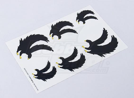 Hoja de Eagle negro de la etiqueta