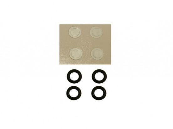 Gaui 100 y 200 Tamaño del anillo o Dureza-50 y la arandela de papel de 3 mm del rotor principal del cabezal (203847)