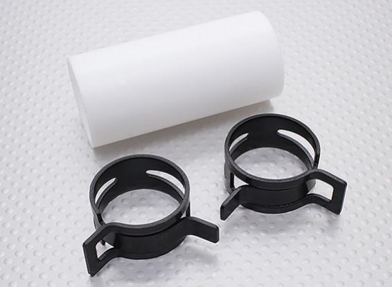 Acoplador de teflón con clips (28 mm) de tuberías para Silenciador