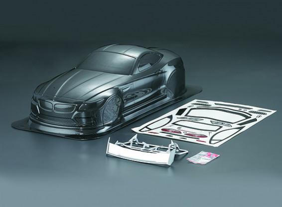 Shell 1/10 Z4 fibra de carbono del estilo del coche del cuerpo (190 mm)