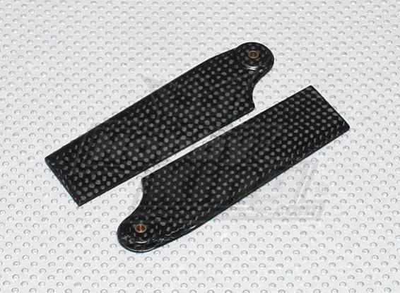 Las cuchillas de 92 mm de fibra de carbono de cola (600size) (1 par)