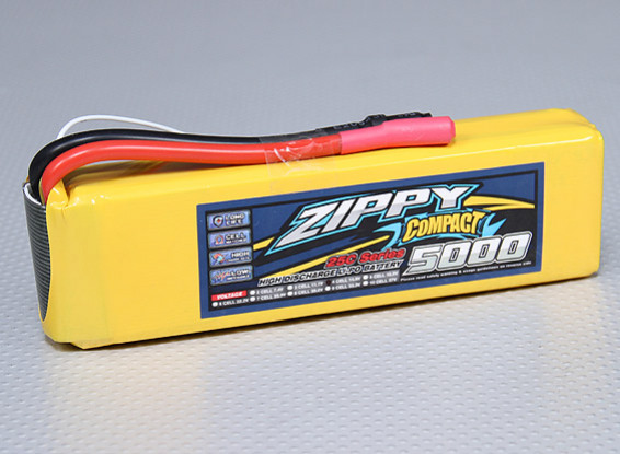Lipo 25C Paquete ZIPPY Compacto 5000mAh 4S