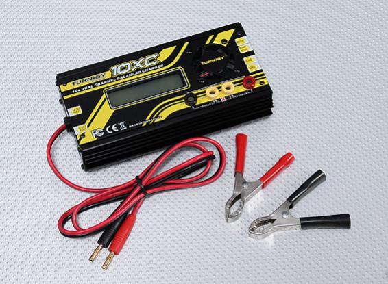 Cargador del balance de Canal Turnigy 10XC 10S 10A 400W Dual