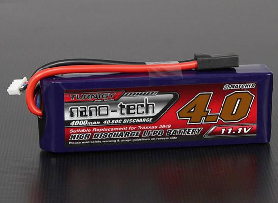 Turnigy nano-tech 4000mah 3S 40 ~ 80C Lipo Pack (raya vertical / Abigeo / Bandit / Estampida)