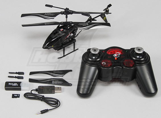 Spycam Micro Helicóptero w / tarjeta SD de 1 GB (Modo 2) (RTF)