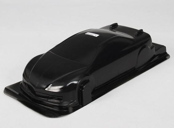 1/10 CR-6R carrocería w / Adhesivos (Negro)