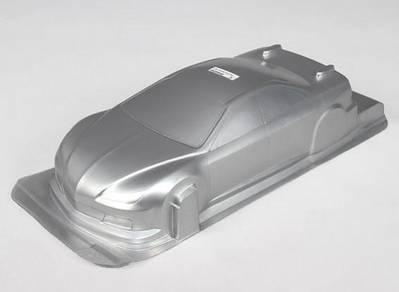 1/10 CR-6R carrocería w / Adhesivos (plata)