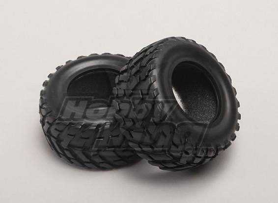 Los neumáticos w / espuma Inserción (2pcs / bolsa) - 1/18 4WD RTR corta del carro de golf