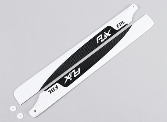 Flybarless 430mm de alta calidad de fibra de carbono principal Cuchillas