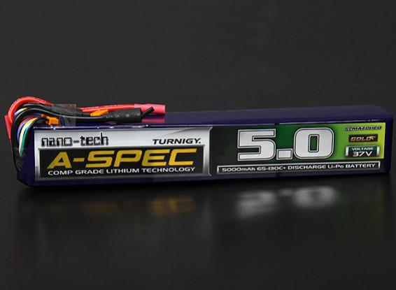Turnigy nano-tecnología A-Spec 5000mAh 10S 65 ~ 130C Lipo Paquete