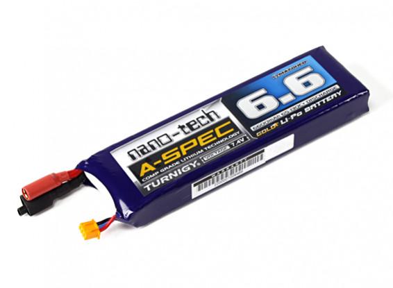 Turnigy nano-tech 6600mah A-Spec 2S 65 ~ 130C Lipo Barco Paquete
