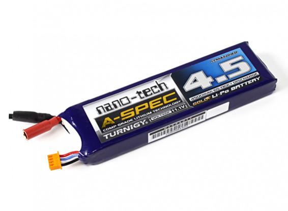 Turnigy nano-tecnología A-Spec 4500mAh 3S Lipo 65 ~ 130C Barco Pack (Mono1)