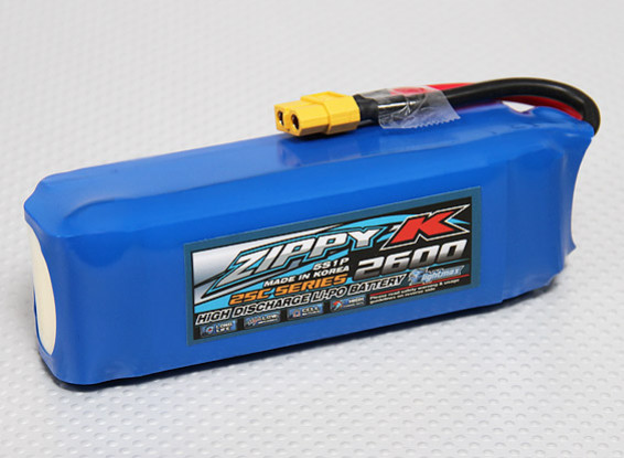 Batería Zippy-K Flightmax 2600mAh 5S1P 25C Lipo